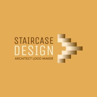 Architect Logo Maker with an Abstract Staircase Icon 1210j-2368