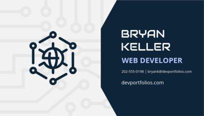 Modern Business Card Maker for Web Developers 75a