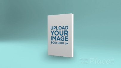Video of a Book Cover Over a Plain Background 28769