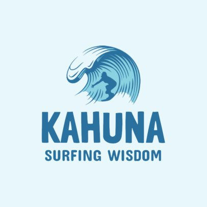 Cool Logo Template for a Surfing School 2376b