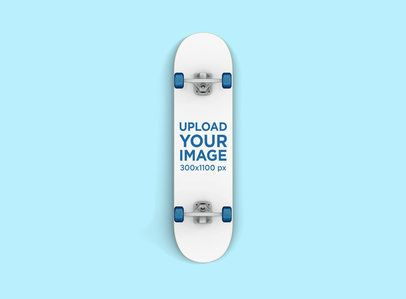 Render Mockup of a Skateboard Against a Flat Surface 383-el