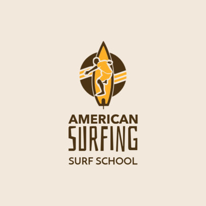Logo Template for an American Surfing School 2376e 2365