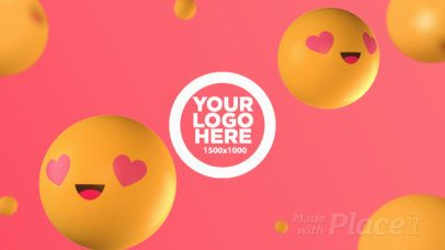 Intro Maker for a Logo Reveal with 3D Emojis in Love 1698a--1197