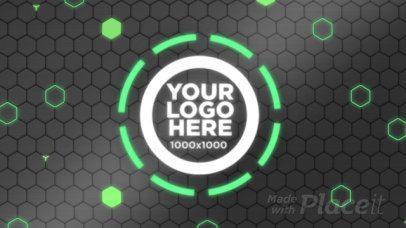 Logo Reveal Intro Maker with Futuristic Glows 961