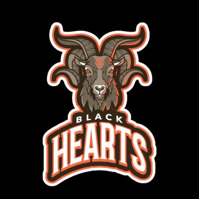 Team Logo Maker Featuring a Demon Goat 21o--2360
