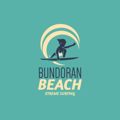 Logo Template for an Extreme Surfing Camp 2376h 2365