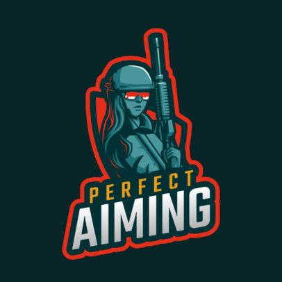 Gaming Logo Maker Featuring a Female Sniper 1743o - 2287