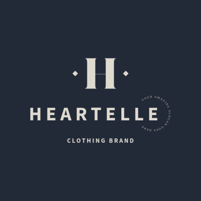 Logo Template for a Fashionable Clothing Brand 2357b