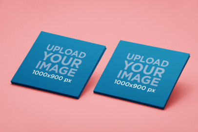 Mockup of Two Digipaks with a Customizable Background 28342