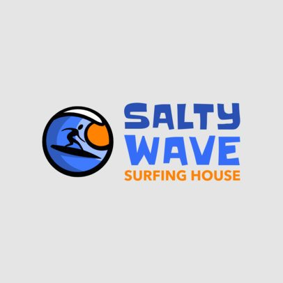 Sports Logo Generator for a Surfing House 2376l 2367