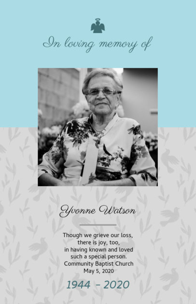 Funeral Program Template with a Classic Style 1647d
