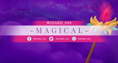 Twitch Banner Maker with a Golden Magic Staff Inspired in Mobile Legends 1454i--1649