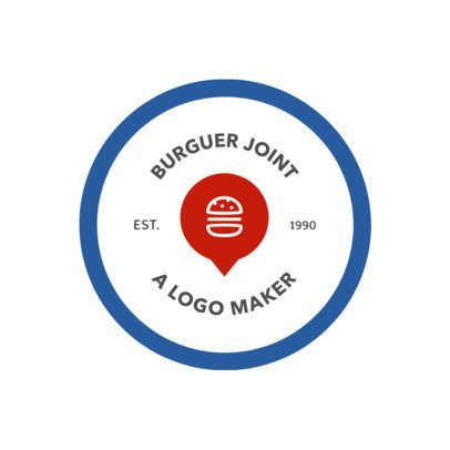 Fast Food Logo Template Featuring a Minimalistic Design 1013a