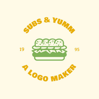Fast Food Logo Maker Featuring a Sandwich Illustration 1013d