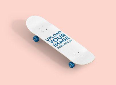 Skateboard Mockup Placed in a Flat Surface 387-el