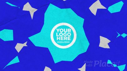 Logo Reveal Intro Maker with Animated Pieces of Paper 959