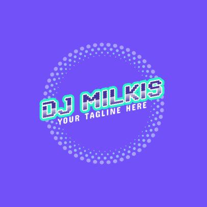 DJ Logo Maker Featuring Dot Patterns 2351g