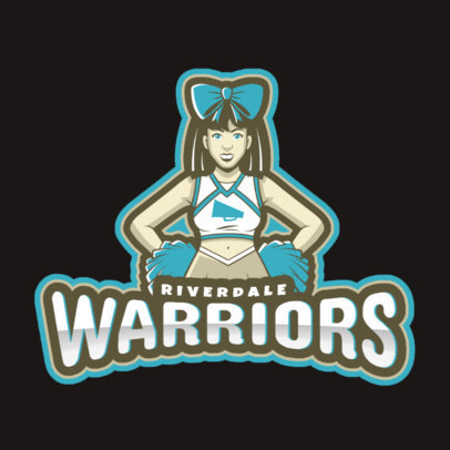 Sports Logo Maker Featuring a Cheerleader Character 2412g