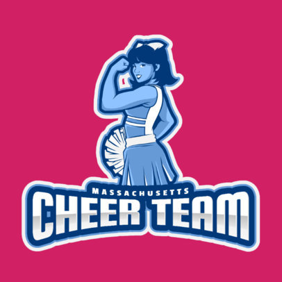 Online Logo Maker Featuring a Strong Cheerleader 2412h