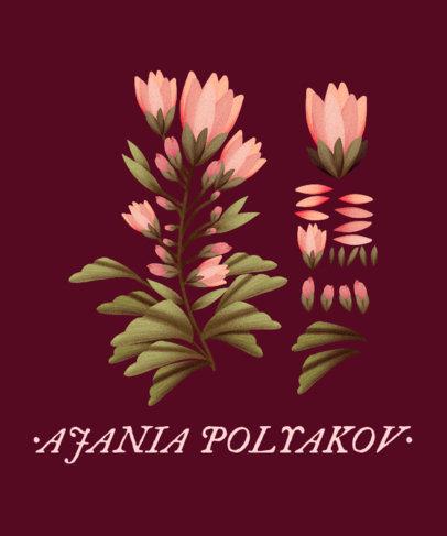 T-Shirt Design Maker Featuring Flower Illustrations 1662a