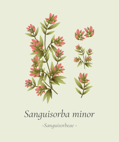 T-Shirt Design Generator with Sanguisorba Plants 1662b