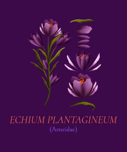 T-Shirt Design Maker Featuring Blossoming Purple Flowers 1662d