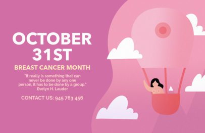 Breast Cancer Month Flyer Template 1676d