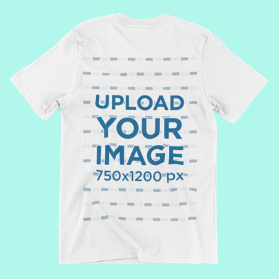 T-Shirt Mockup Laid Over a Solid Background 167-el