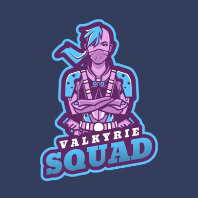 Gaming Squad Logo Template Inspired in Fortnite Characters 2385e 2407