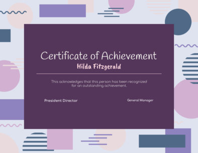 Achievement Certificate Generator with Cool Shapes in the Background 1671b