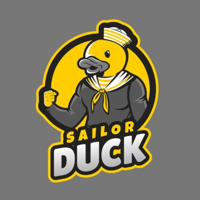 Funny Gaming Logo Maker Featuring a Sailor Duck Inspired in Fortnite 2400c 2407