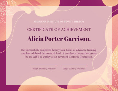 Certificate Template with a Modern Style 1670e
