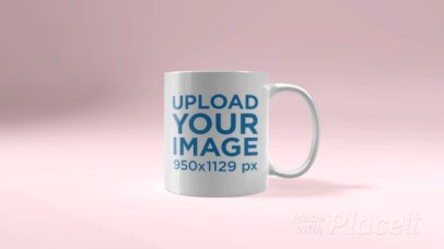 Video of an 11 oz Mug Render Slowly Spinning in a Solid Color Backdrop 28767