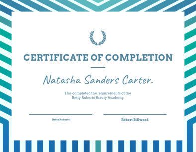 Customizable Certificate Template with a Bold Frame 1669l