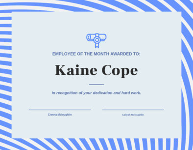 Employee of the Month Certificate Maker 1669c