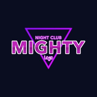 Nightclub Logo Maker Inspired by Neon Light Signs 2416