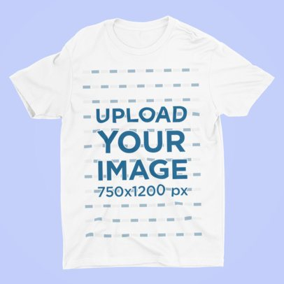 Mockup of a T-Shirt Lying in a Plain Color Surface 215-el