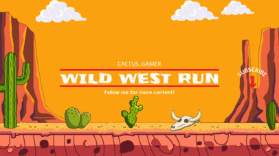 Gaming YouTube Banner Generator with a Retro Wild West Theme 1673a