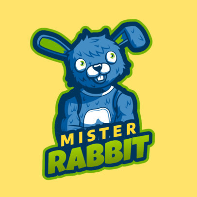 Gaming Logo Maker Featuring a Rabbit Character Inspired in Fortnite Skins