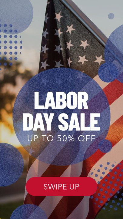 Instagram Story Template for a Labor Day Sale 582h 1690