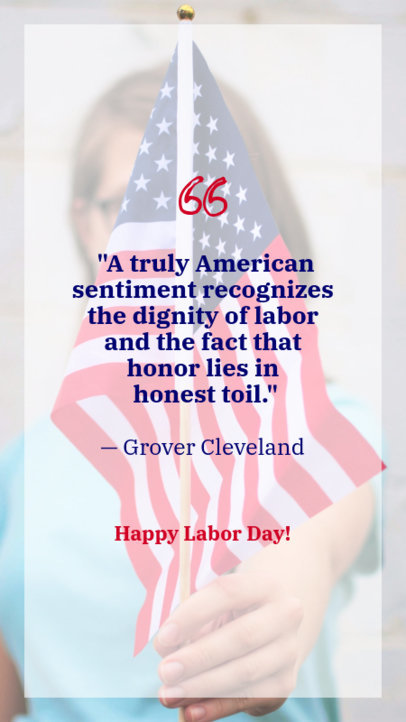 Patriotic Instagram Story Template with a Labor Day Quote 597l 1690