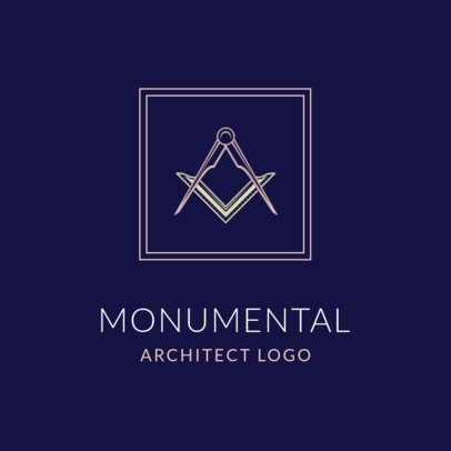Logo Maker for Architecture Firms Featuring a Drawing Compass 1420g 2444