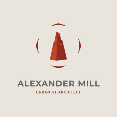 Architecture Firm Logo Template Featuring a Concrete Structure