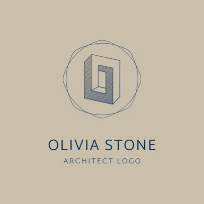 Logo Template for Architecture Firms with a Hatching Design Graphic 1420i 2444