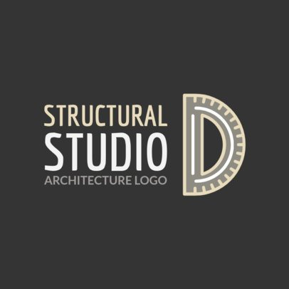 Architecture Firm Logo Maker Featuring a Protractor Clipart 1210k 2444