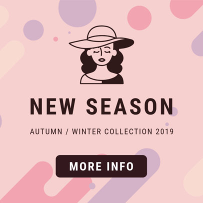 New Season Ad Banner Maker with a Minimal Style 753k-1700