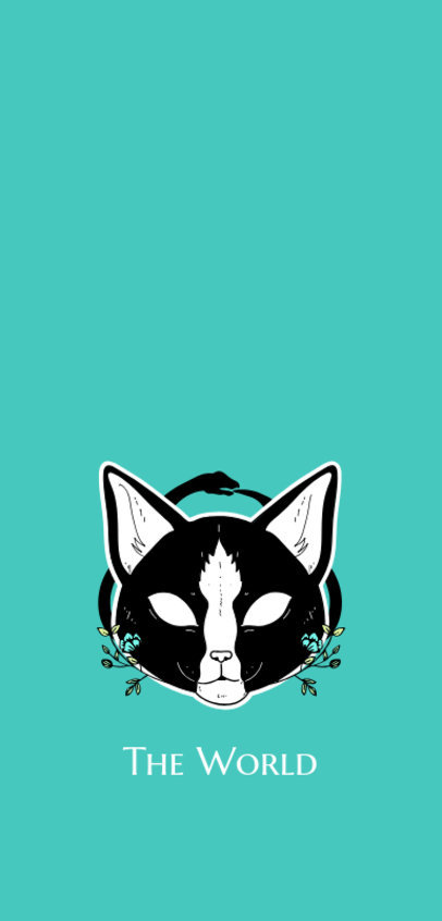 Phone Case Template Featuring a Smiling Creepy Cat Illustration 1688h