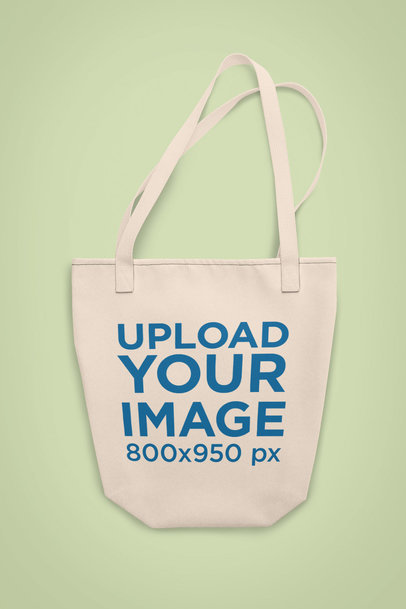 Customizable Strap Tote Bag Mockup on a Plain Surface 28948