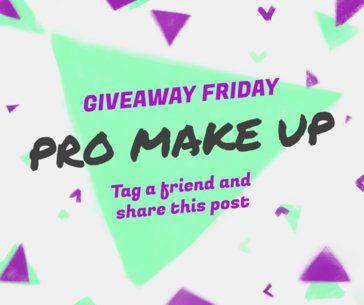 Social Media Post Template for a Make-Up Giveaway with an Abstract Background 637h 1698