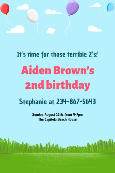 Children's Birthday Party Invitation Maker 1685j